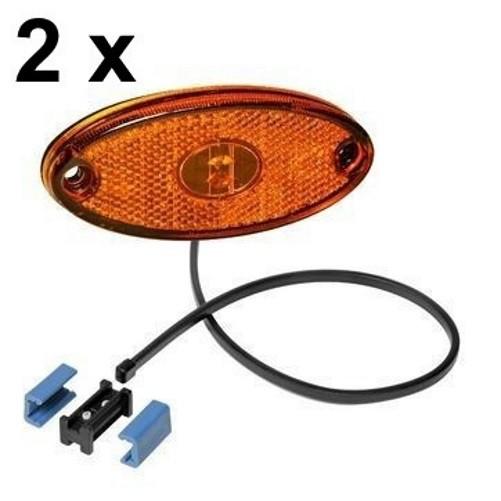 2 x Aspöck Flatpoint II Seitenmarkierungsleuchte LED GELB