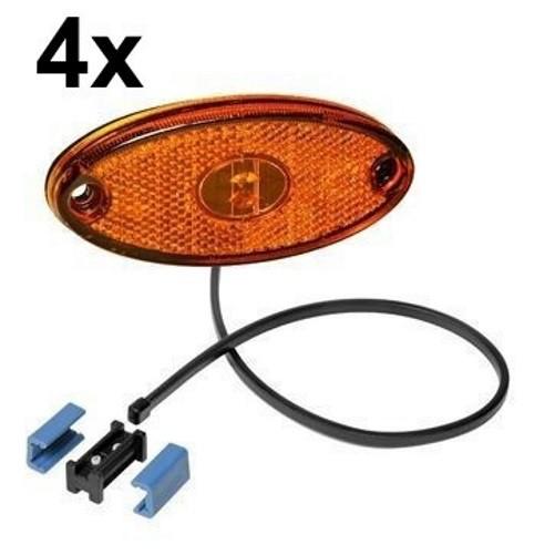 4 x Aspöck Flatpoint II Seitenmarkierungsleuchte LED GELB