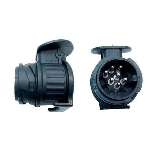 mini adapter von 13 poliger steckdose zu 7 poligem stecker anh nger ersatzteile beleuchtung. Black Bedroom Furniture Sets. Home Design Ideas