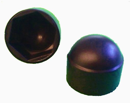 50 Stück Sechskant Schutzkappe M14 - Schlüsselweite 22mm, Farbe schwarz - Abdeckkappe