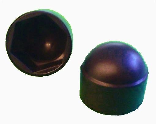 25 Stück Sechskant Schutzkappe M14 - Schlüsselweite 22mm, Farbe schwarz - Abdeckkappe