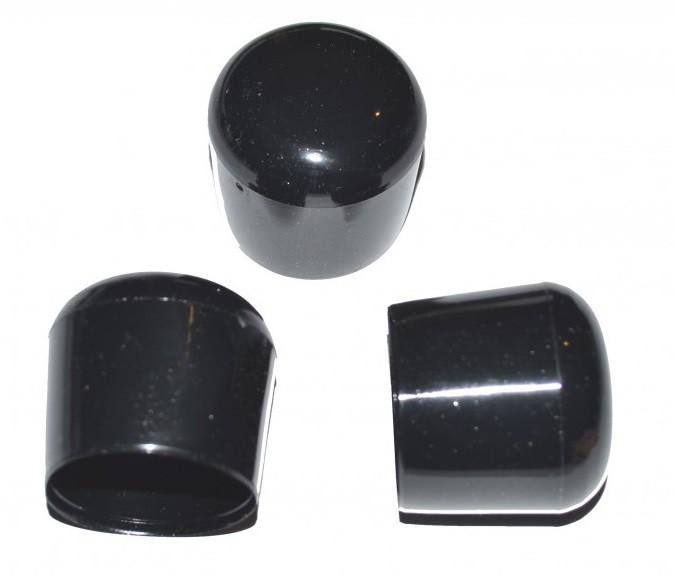 kappe f r rundrohr d 22 23 mm l 22 mm schwarz pvc menge w hlbar kunststoffteile kappen f r. Black Bedroom Furniture Sets. Home Design Ideas